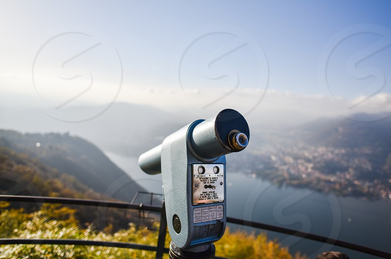 telescope travel holiday tourist lake italy photo