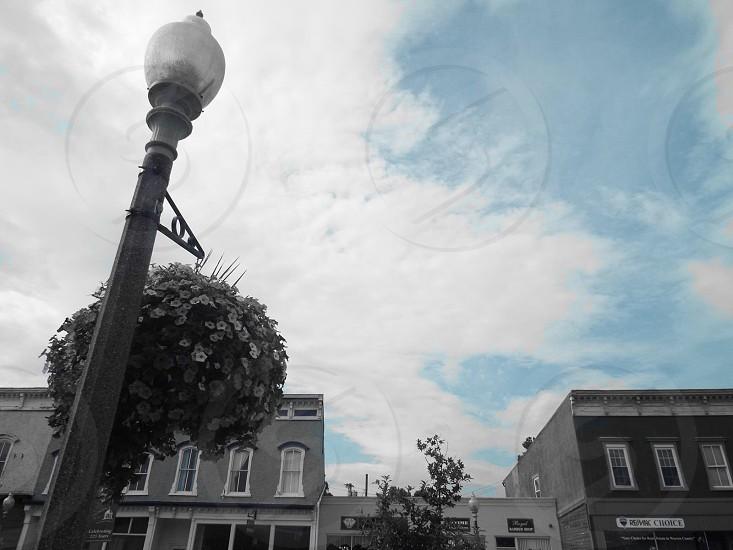 Lamppost nostalgia small town  photo