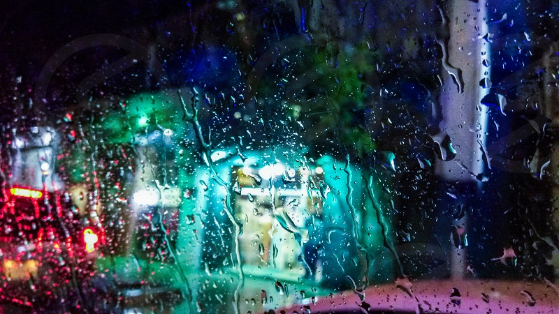 rain from the window #rain #nightlights photo