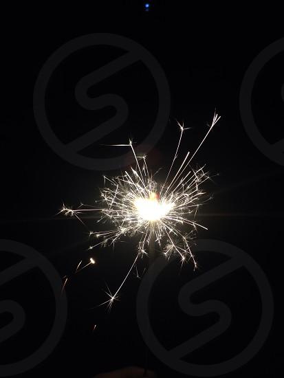 white sparkler macro shot photo