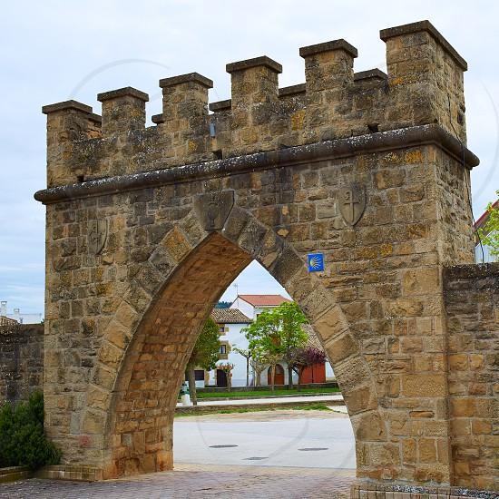 Obanos Plaza de los Fueros in Saint James Way at Navarra Spain photo