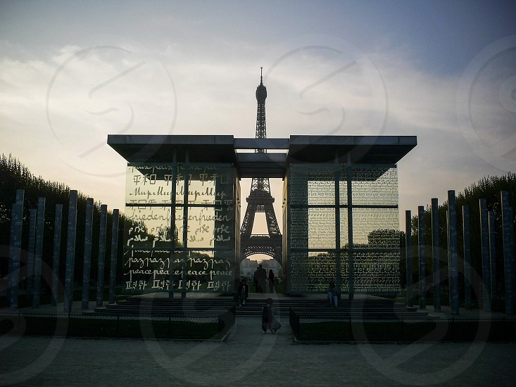 Champ de Mars - Paris France. photo