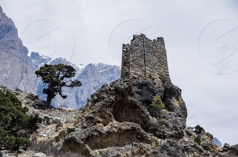 Remnants of an ancient fortress Nepal photo
