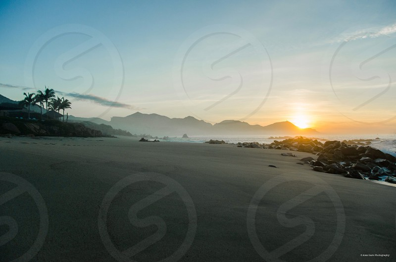 Beach thirds beauty sunrise nature ocean Cabo Mexico paradise vacation relaxing peaceful  photo