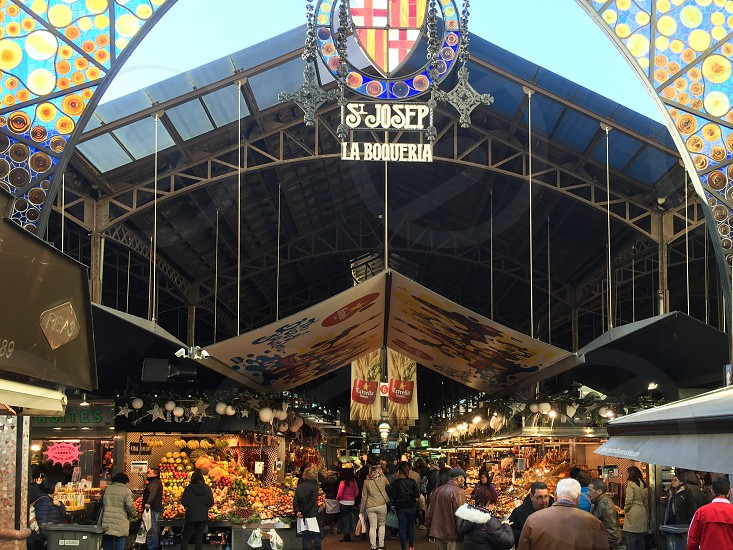 La Boqueria Barcelona Spain market photo