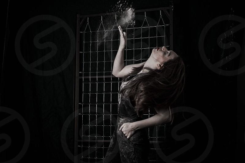 woman in black dress head's up photo