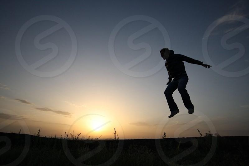 Jump silhouette  photo