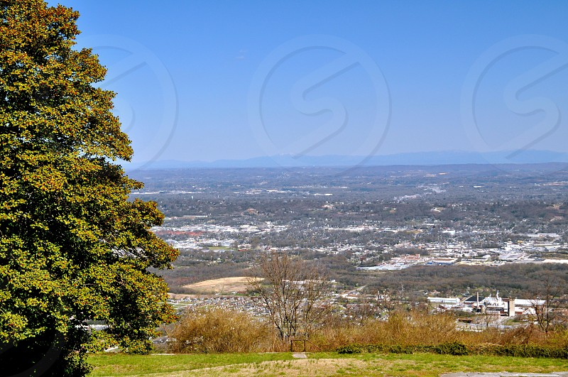 View of Chattanooga Tennessee (USA) from Lookout Mountain photo
