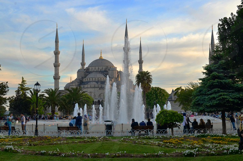 Blue Mosque in Istanbul Turkey photo