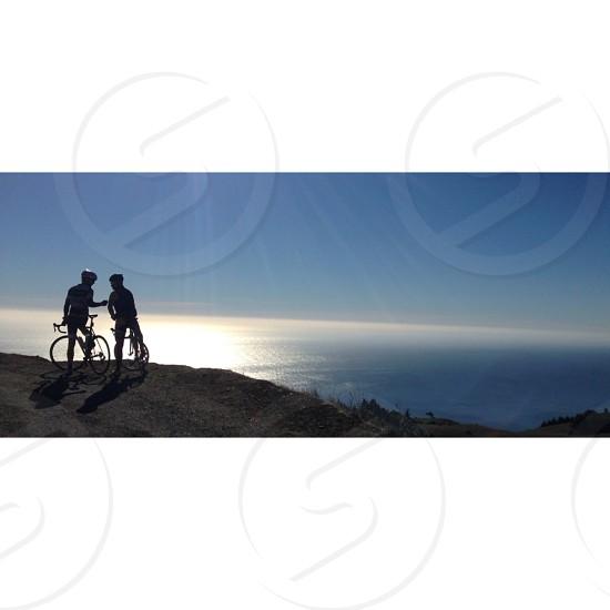 black and white mountain bike photo