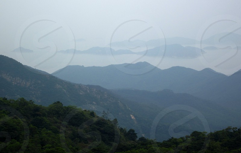 Lantau Island Hong Kong Landscape Mountain photo