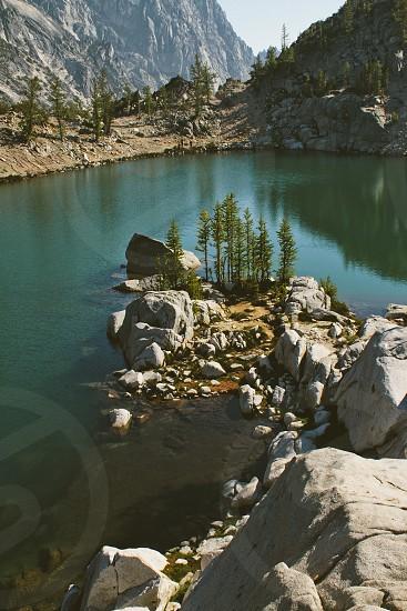 rocky lake edge photo