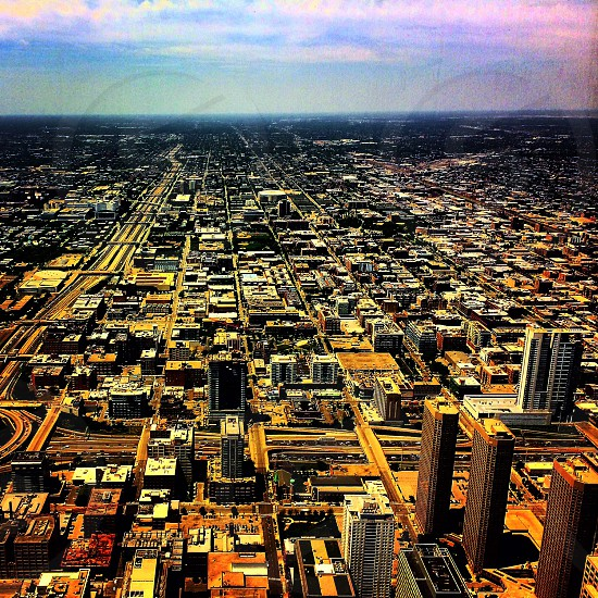 Chicago. SkyDeck. Willis tower. Color feel. Stylized.  photo