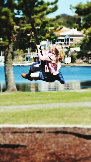 How high can I fly! Park fun photo