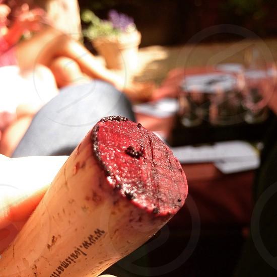Wine cork happy hour good times photo