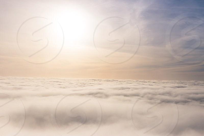 Cloud clouds cloudscape sky skyscape warm above the clouds explore drone photo