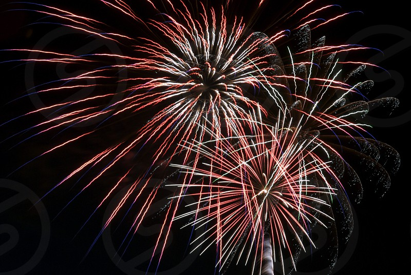 Image of fireworks exploding during a fourth of July celebration photo