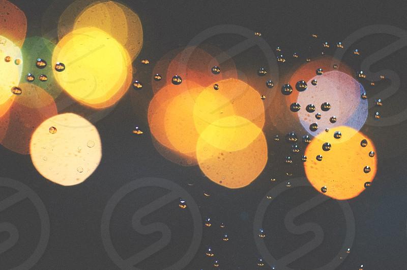 circles drops and lights  photo