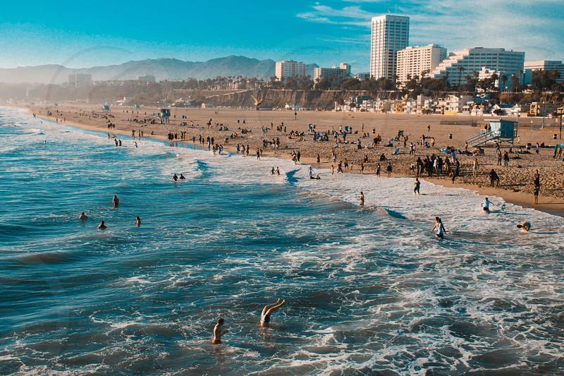 Santa Monica Beach.  photo