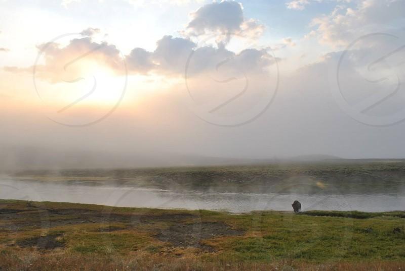 panoramic view of the lake photo