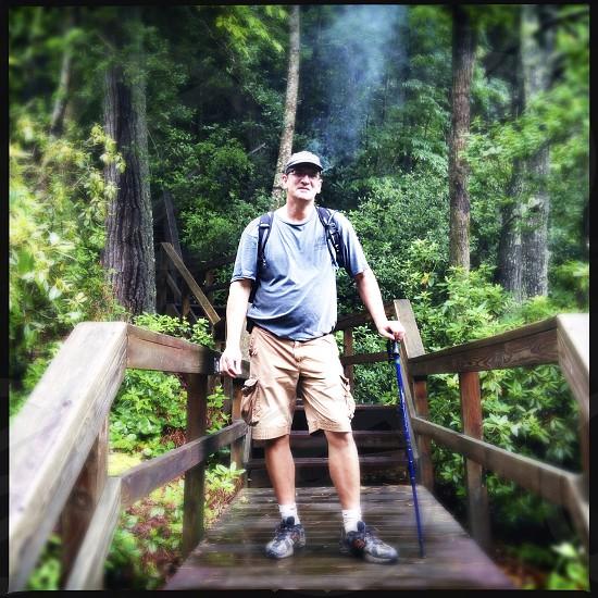 smoking hiker photo