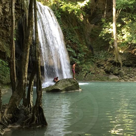 Erawan Falls....Thailand  photo
