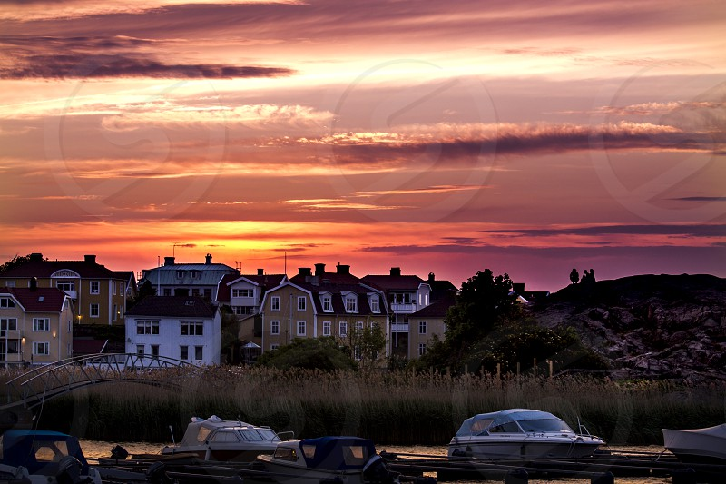 Reason to travel: seeing the sun set somewhere else.  Karlskrona archipalago photo