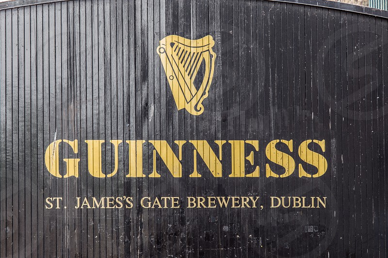 The gate at the St. James's Gate Brewery now the Guinness Storehouse.  Dublin Ireland photo