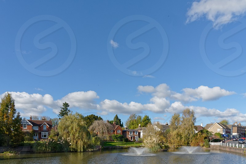 LINDFIELD WEST SUSSEX/UK -OCTOBER 29 : View of the pond in Lindfield West Sussex on October 29 2018 photo