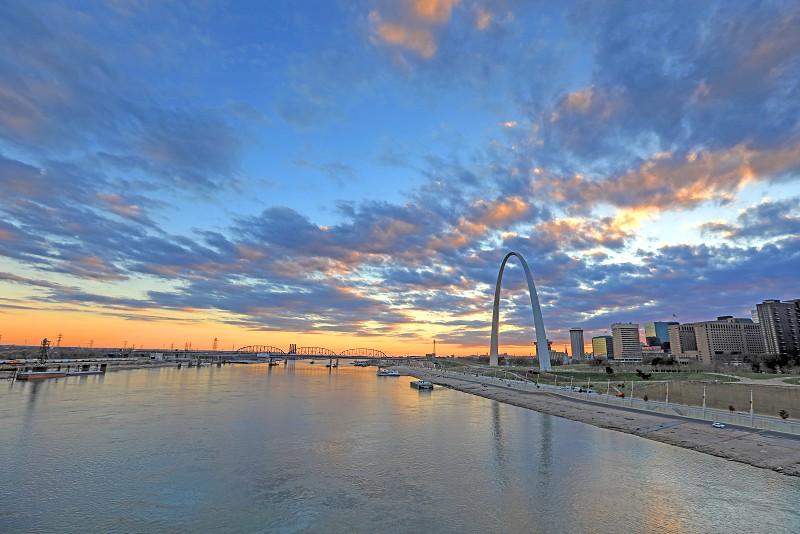 The Gateway Arch and St. Louis Missouri skyline. photo