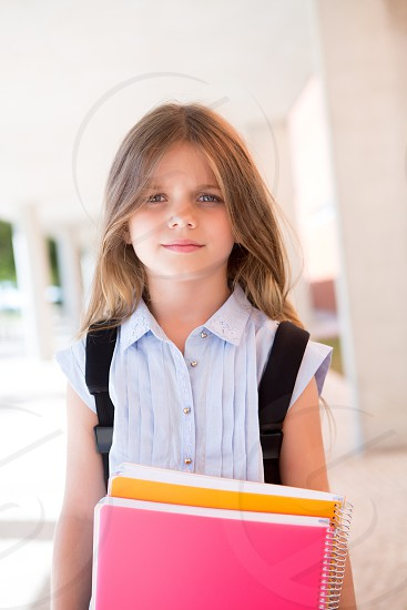 back to school student campus school kid child girl photo