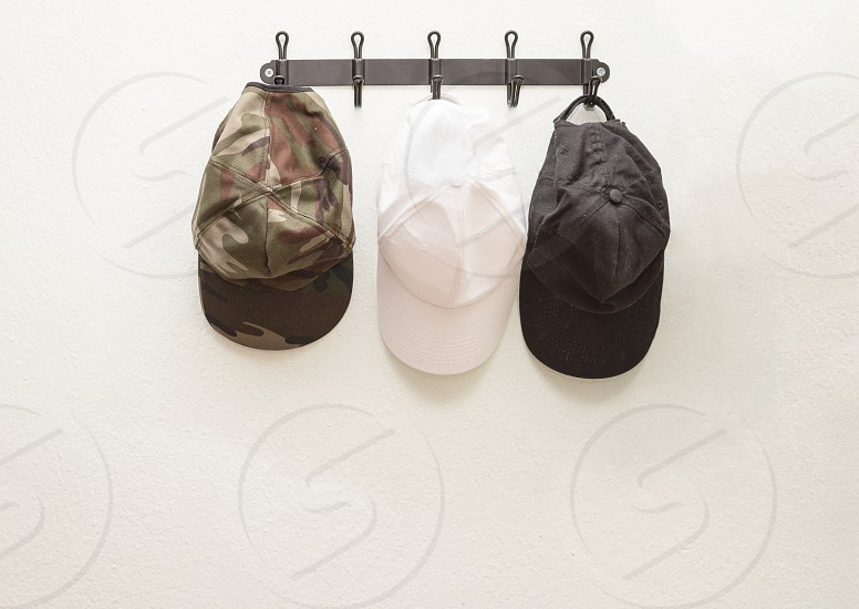 white baseball cap photo
