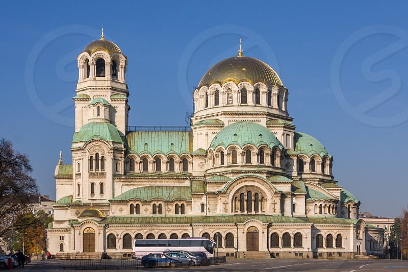 Here is a phot of the Saint Alexander Nevsky Cathedral an Orthodox cathedral located in Sofia the capital of Bulgaria. photo