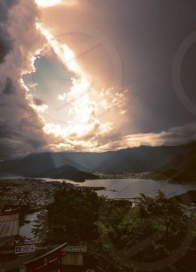 landscapesunlightfuji mountain photo