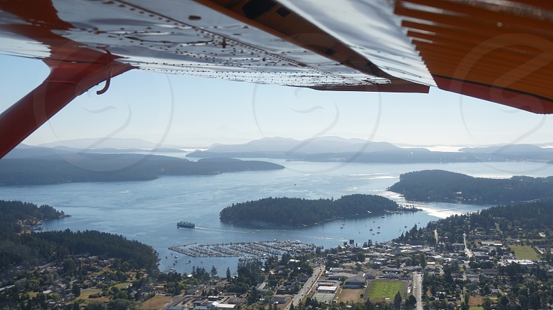 Sky high over Friday Harbor photo
