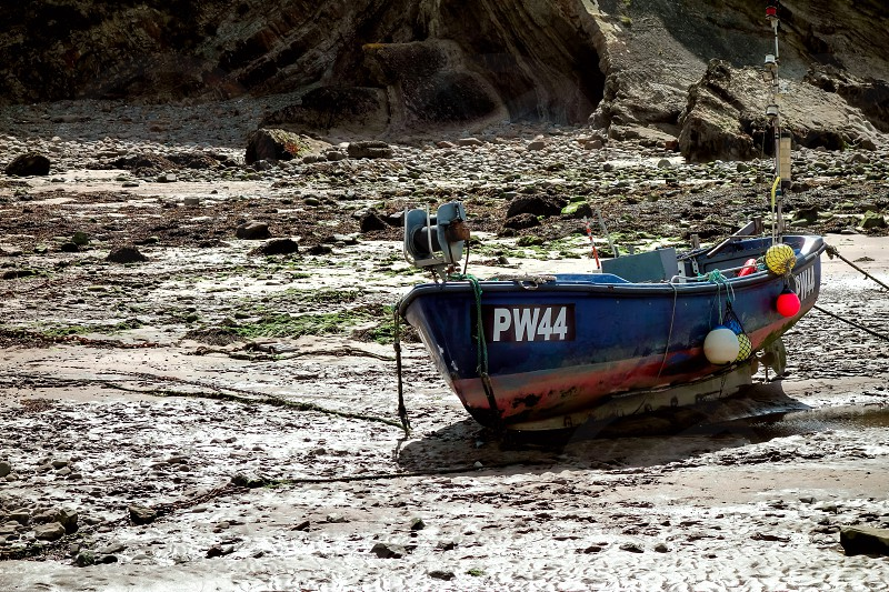 Fishing Boat Beached at Bude photo