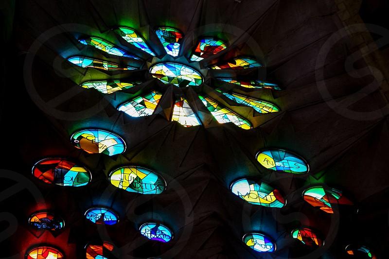 Stained Glass La Sagrada Familia photo
