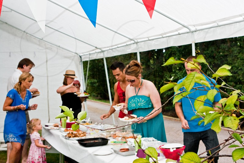 Summer party outside catering photo