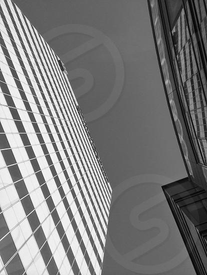 Commercial building black & white photo