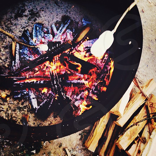 Summer night campfires. photo