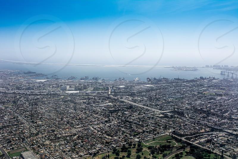 SanDiego approach plane jet California photo