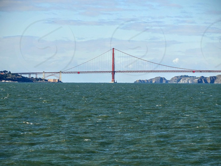 Golden Gate Bridge from the water photo