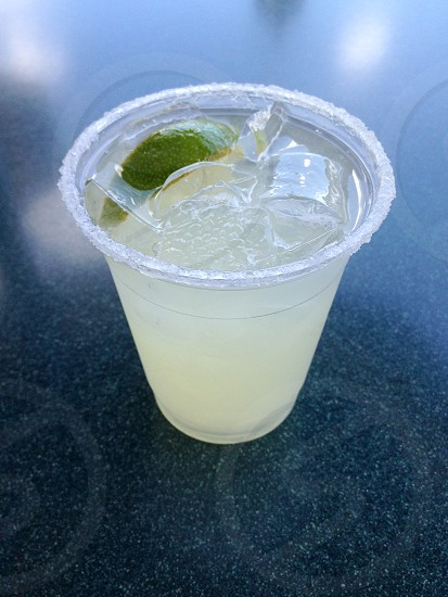 Margarita in a plastic cup photo