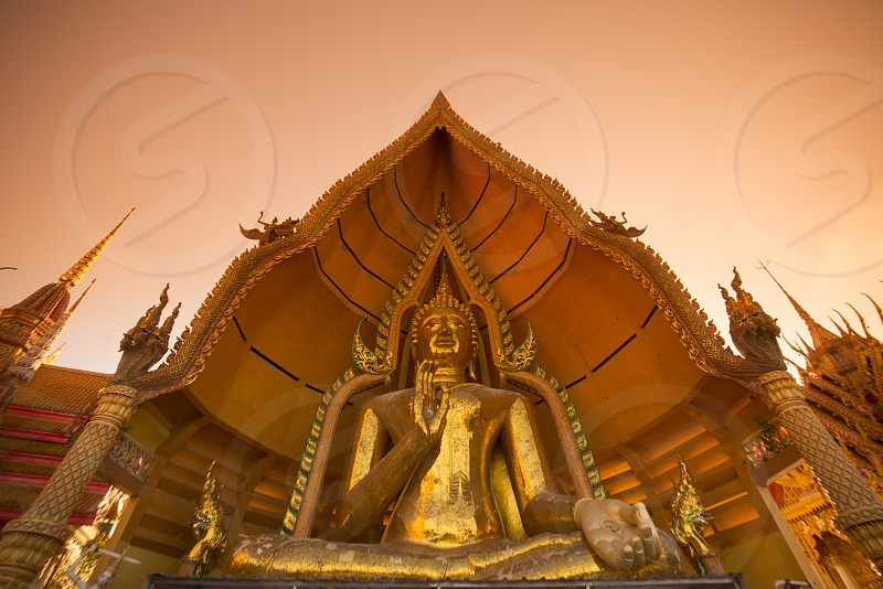 the wat tham sua near the City of Kanchanaburi in Central Thailand in Southeastasia.   photo