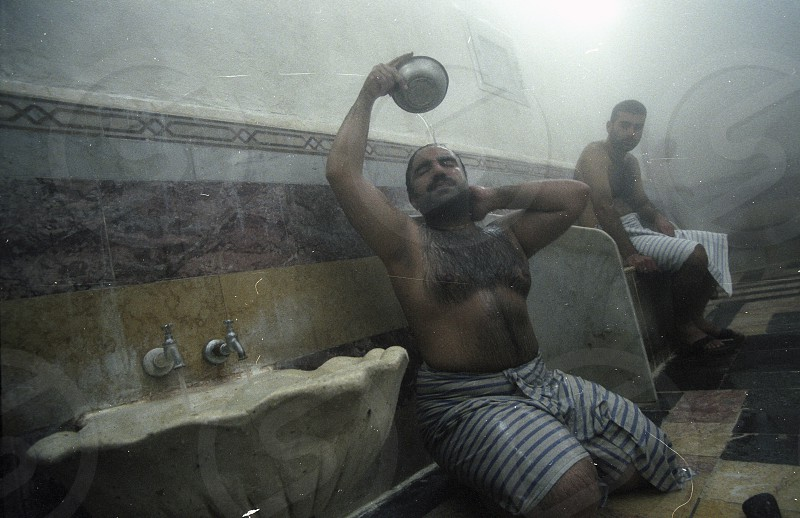 a Hamman in the market or souq in the old town in the city of Damaskus in Syria in the middle east photo