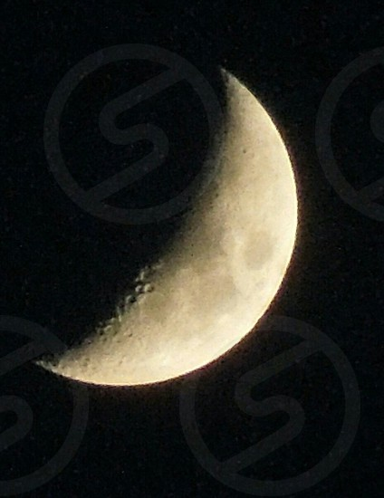 A close up of the moon. I couldn't believe you could see the crafters! photo
