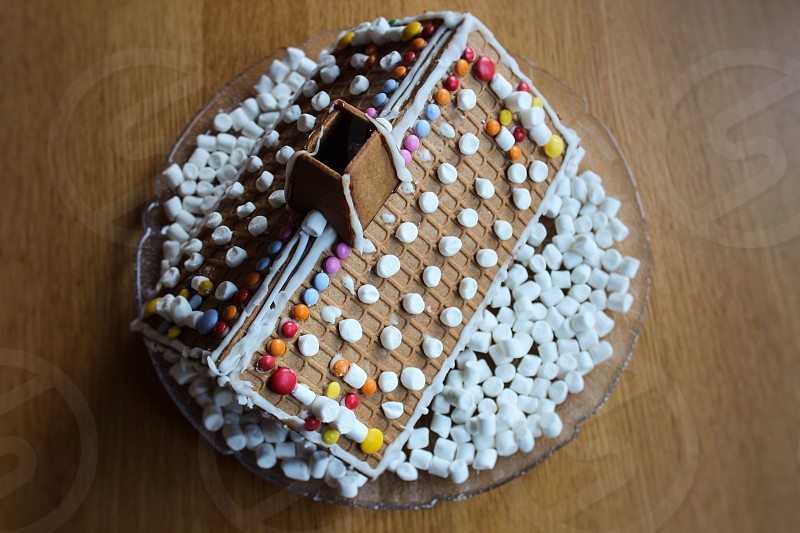 Gingerbread house sweets tasty candy photo