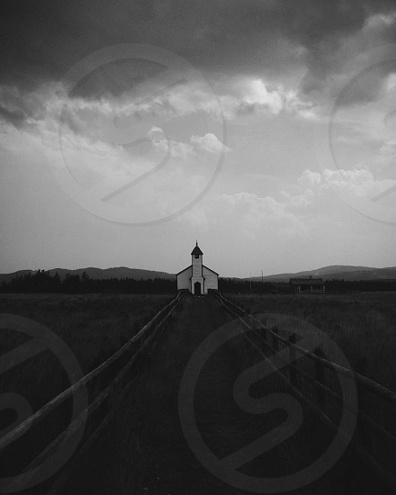 Country church in rural Canada photo