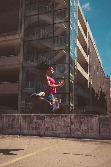 Fitness Workout Running Track and Field Athlete Athletic  photo