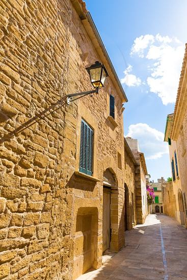 Alcudia Old Town in Majorca Mallorca Balearic island of Spain photo